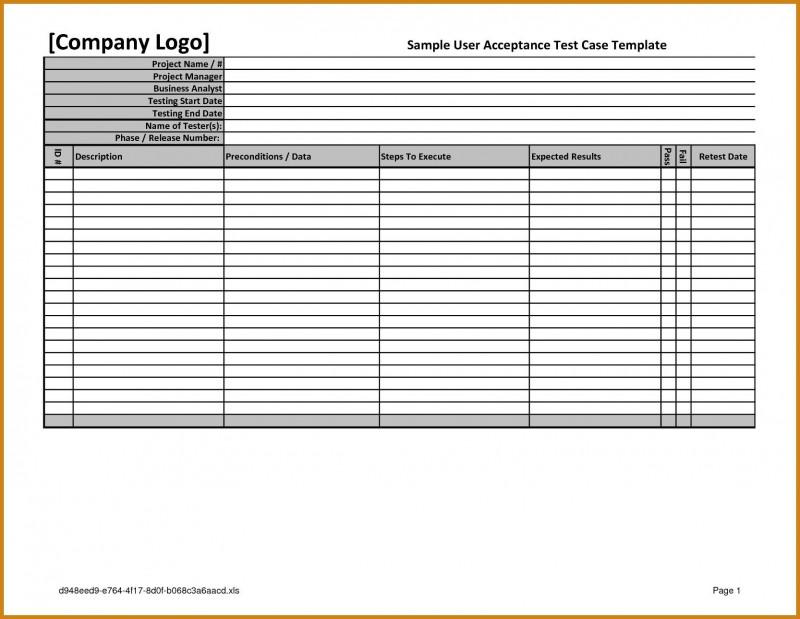 Acceptance Test Report Template New Sap Test Script Template Excel Glendale Community