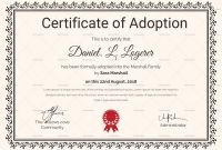Adoption Certificate Template New Nice Adoption Certificate Template Photos Free Printable Award