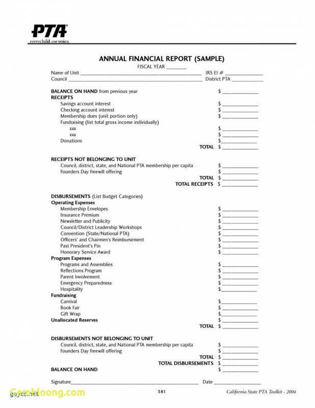 Annual Budget Report Template Awesome 003 Template Ideas Treasurer Report Non Profit Impressive