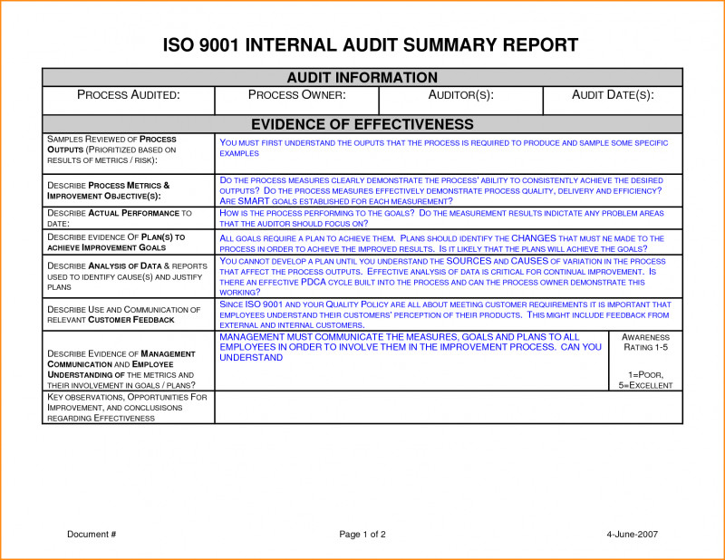 Audit Findings Report Template New Fearsome Internal Audit Reports Templates Template Ideas format