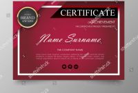 Award Certificate Border Template Unique Certificate Premium Template Awards Diploma Background Stock Vector