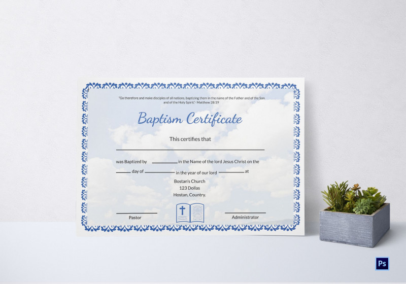 Baby Christening Certificate Template Awesome Baptism Certificate Template Rama Ciceros Co