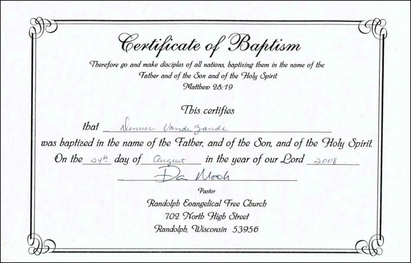 Baby Christening Certificate Template New Baptism Class Certificate Template Brochure Templates Rohanspong Net