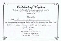 Baptism Certificate Template Download Awesome Baptism Class Certificate Template Brochure Templates Rohanspong Net