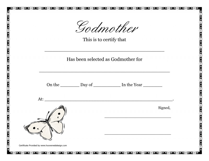 Baptism Certificate Template Word New Free Printable Godparent Certificates Printable Godmother