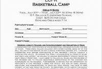 Basketball Camp Certificate Template Awesome Beautiful Free Basketball Registration form Template Best Of Template