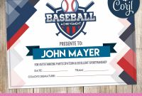 Basketball Camp Certificate Template New Baseball Certificates Baseball Awards Kid Certificates