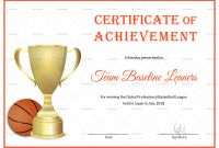 Basketball Certificate Template New Beaufiful Basketball Certificate Template Pictures Funny Award
