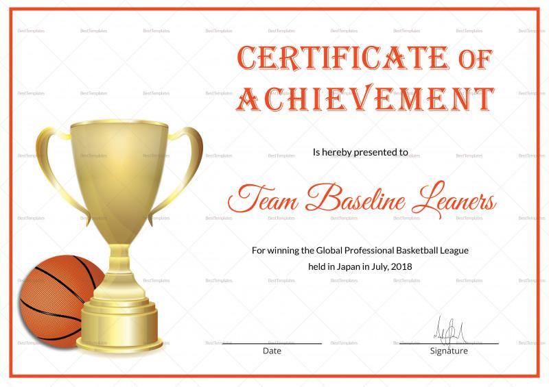 Basketball Certificate Template New Beaufiful Basketball Certificate Template Pictures Funny Award
