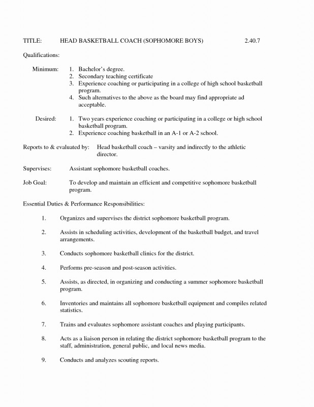 Basketball Scouting Report Template Professional 68 Inspiring Stock Of Example Resume For High School Basketball