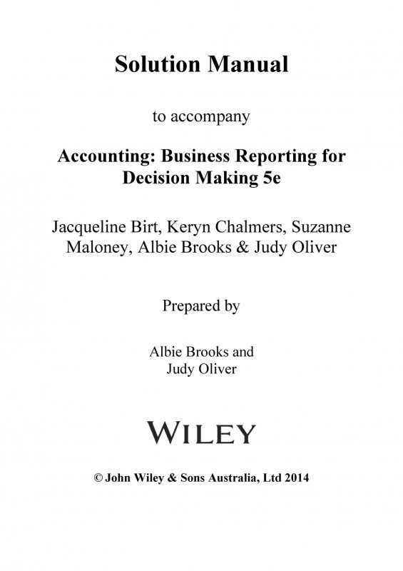 Birt Report Templates New Ch09 Sm Birt 5e Solution Manual Accounting Business Reporting For