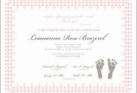 Birth Certificate Fake Template Awesome Baby Girl Birth Certificate Template Radiodignidad org
