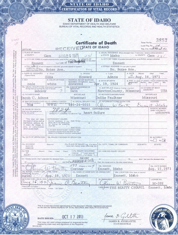 Birth Certificate Fake Template Awesome Tennessee Birth Certificate New Jersey Death Certificate Sample