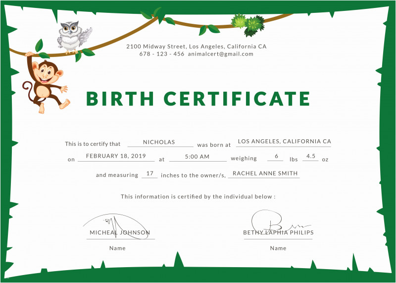 Birth Certificate Template For Microsoft Word Awesome Free Puppy Birth Certificate Template Radiodignidad Org