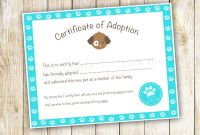 Blank Adoption Certificate Template Awesome Nice Adoption Certificate Template Images Noc formet Nevse Kapook