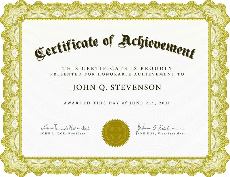 Blank Certificate Of Achievement Template Unique 001 Template Ideas Certificate Of Achievement Free Best Award Word