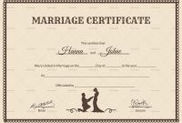 Blank Marriage Certificate Template New License Certificate Template Saroz Rabionetassociats Com