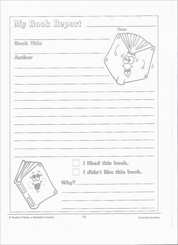 Book Report Template 4th Grade Unique Inspirational 2nd Grade Book Report Template Free Best Of Template