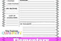 Book Report Template Grade 1 New 10 Book Report for Second Grade formatmemo