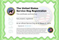 Boot Camp Certificate Template Awesome 004 Service Dog Certificate Template Frightening Ideas Pdf Id Card