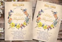 Bridal Shower Banner Template Unique Printable Wedding Shower Invitations Vintage Bridal Invitation