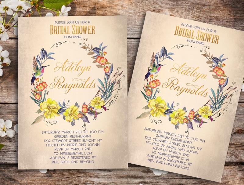 Bridal Shower Banner Template Unique Printable Wedding Shower Invitations Vintage Bridal Invitation