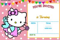 Bubble Guppies Birthday Banner Template New Hello Kitty Birthday Invitation Template