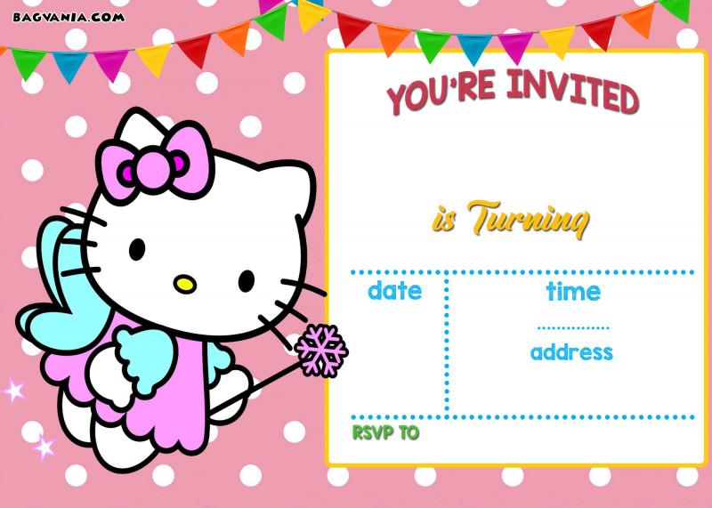Bubble Guppies Birthday Banner Template New Hello Kitty Birthday Invitation Template