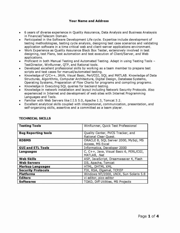 Bug Summary Report Template New Etl Testing Resume Sample Inspirational Mobile Testing Resume