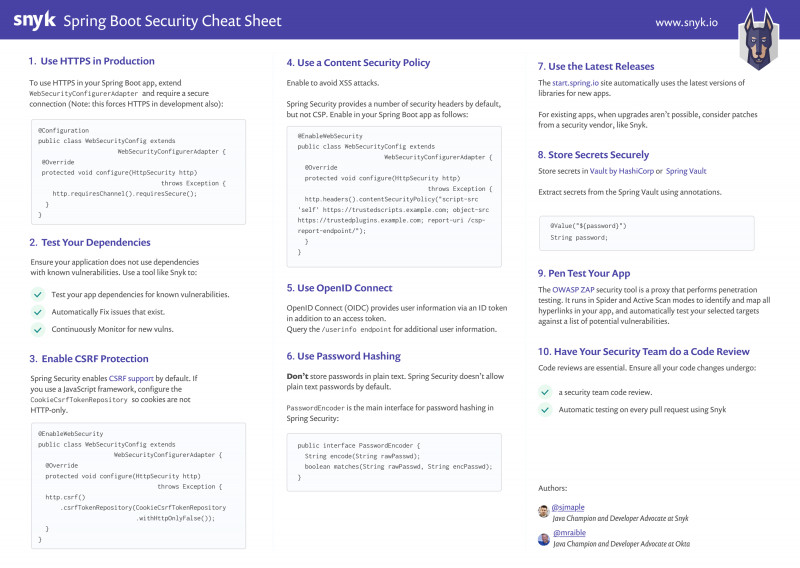 Business Valuation Report Template Worksheet Awesome 10 Spring Boot Security Best Practices Snyk