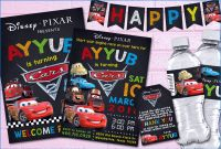 Cars Birthday Banner Template Awesome Lightning Mcqueen Invitations Elegant Disney Cars Printable Party