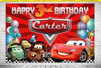 Cars Birthday Banner Template New Cars Backdrop Birthday Cars Background Cars Lightning Etsy