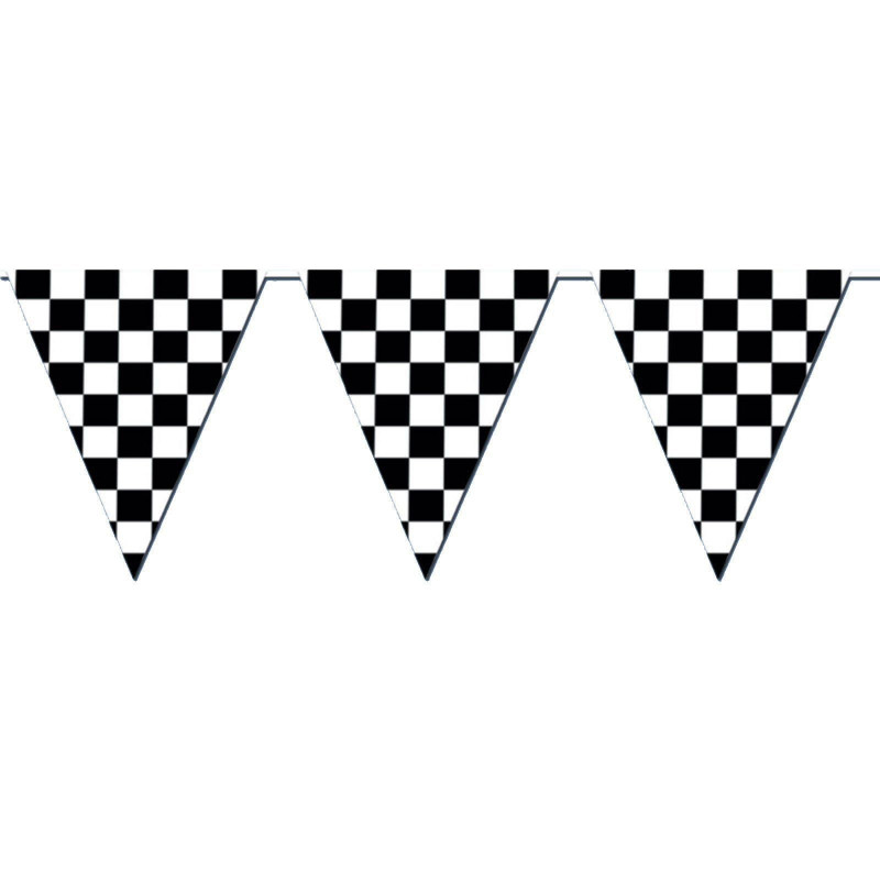 Cars Birthday Banner Template New Giant Racing Checkered Flag Pennant Banner Party Decoration Nascar