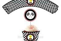 Cars Birthday Banner Template Unique Race Car theme Cupcake Wrappers Birthday Party Printable Etsy