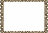 Certificate Border Design Templates Awesome Award Border Templates Rama Ciceros Co