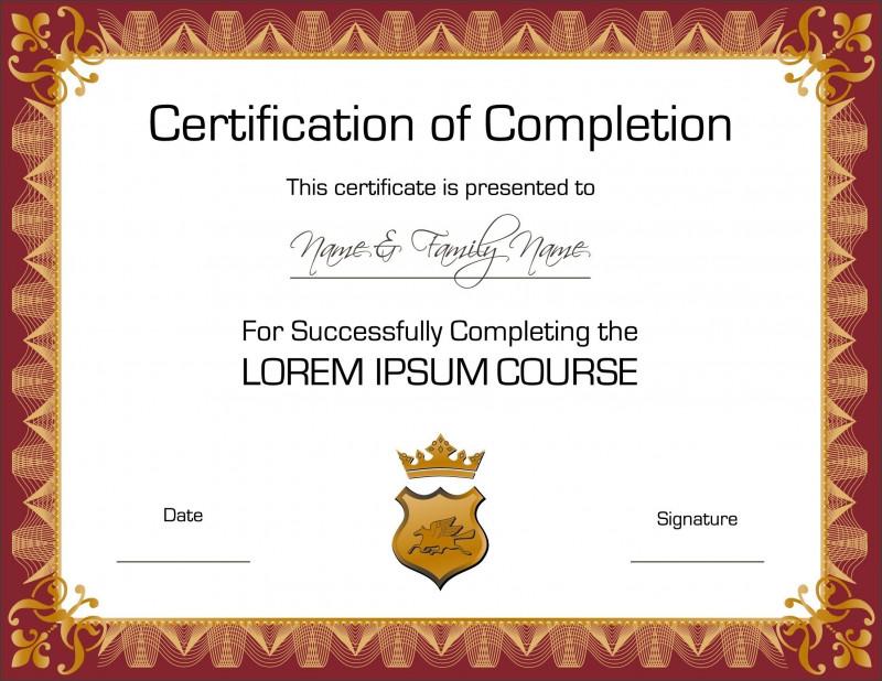 Certificate Of Accomplishment Template Free Unique Elegant Certificate Templates Free Good Certificate Design Vector