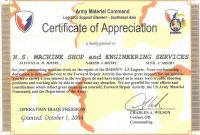 Certificate Of Achievement Army Template New Certificate Of Recognition Template Urbancurlz Com
