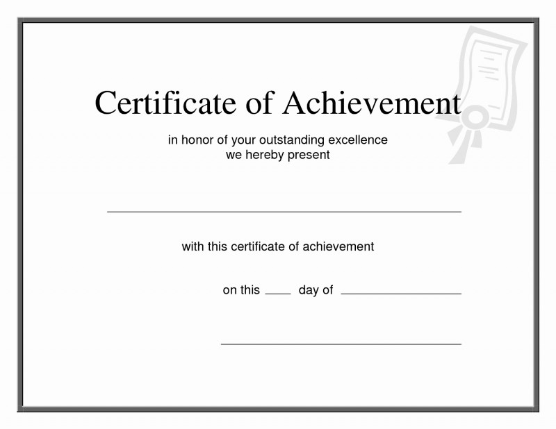 Certificate Of Achievement Army Template New Printable Certificate Of Achievement Pictimilitude