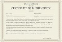 Certificate Of Authenticity Photography Template Unique Limited Edition Print Certificate Of Sample Of Certificate Of