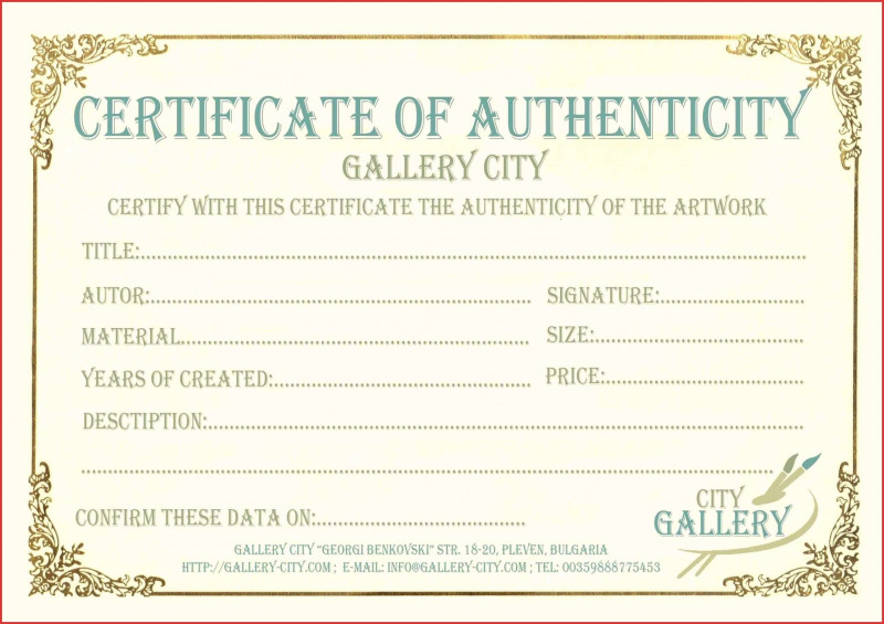 Certificate Of Authenticity Template Awesome 012 Certificate Of Authenticity Template Free Ideas Bunch For Your