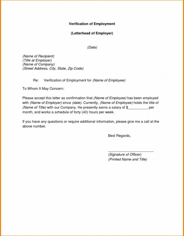 Certificate Of Employment Template Awesome 004 Employee Verification Letter Template Ideas To Whom It May