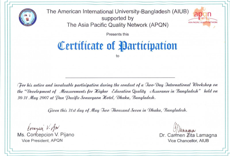 Certificate Of Participation In Workshop Template New Great Conference Participation Certificate Template Images Gallery
