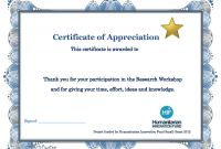 Certificate Of Participation Template Word Awesome Thank You Certificate Template Word Certificatetemplateword Com
