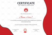 Certificate Of Participation Template Word New Participation Certificate Template Radiodignidad org