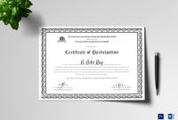 Certificate Of Participation Word Template Awesome Printable Participation Certificates Ince Villa Chems Com
