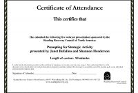 Certificate Template Size New attendance Certificate Template Free Focus Morrisoxford Co
