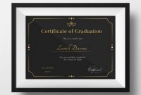 Certificate Template Size New Graduation Certificate Template Retail Logo Behance Graduation