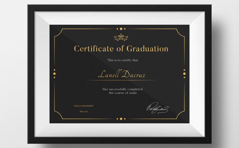Certificate Template Size New Graduation Certificate Template Retail Logo Behance Graduation