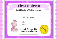 Child Adoption Certificate Template Awesome Girls First Haircut Certificate Baby First Haircut Photo