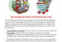 Chiropractic X Ray Report Template Awesome 021 Food Drive Donation Letter Ideas 238649 Template Canned Striking